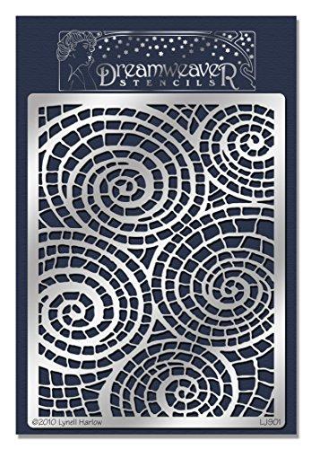 Stampendous Dreamweaver Stencil, Mosaic Swirls