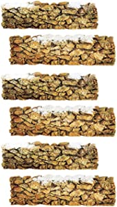Department 56 Accessory for Villages Resin Stone Wall Accessory Figurine (Set of 6)