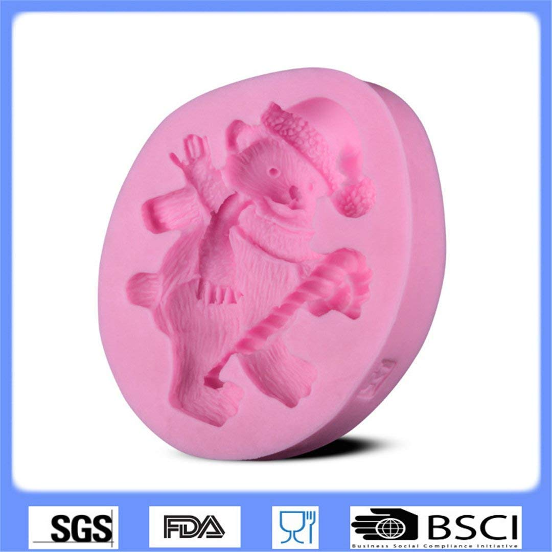 Amazon.com: FantasyDay 2 Pack Dancing Bear Silicone Cake Mold Chocolate Sugarcraft Decorating Fondant Tool for Your Soap, Mini Teacake, Fondant, Candy, ...