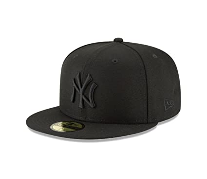 New Era 59Fifty Hat MLB Basic New York Yankees Black Black Fitted Baseball  Cap ( 3a58e09855a