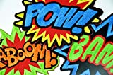 DC MARVEL Comic Action SFX Embroidered Iron On Patches - BAM! POW! KABOOM! - for Cloth, Garment and Accessory Decorating, Sewing, Motif Applique - 3 pcs. set or seperate (!Consecutive Normal Punch!)