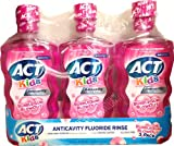 ACT Kids Anticavity Fluoride Rinse, Bubblegum Blowout, 16.9 oz (Pack of 3)
