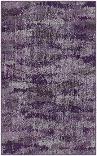 Cheap Brumlow Mills EW10132-7'6×10 Rustic Plum Purple Vintage Abstract Area Rug, 7'6″ x 10