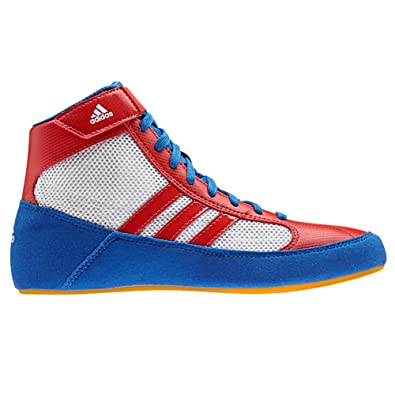557d2f9133be15 adidas HVC 2 Youth Laced Wrestling Shoes - Blue Red White - 1   Amazon.co.uk  Shoes   Bags