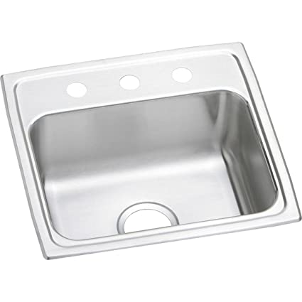 Elkay Lustertone LR19191 Single Bowl Top Mount Stainless Steel Sink