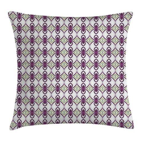 Malva manta almohada Funda de cojín por Ambesonne, Vintage ...