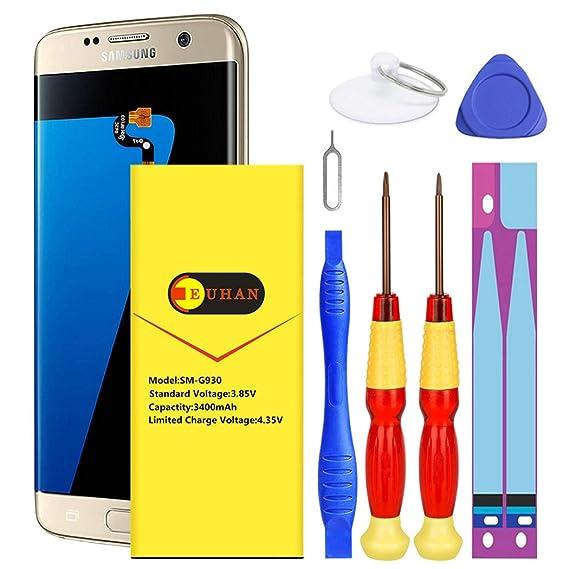(Upgraded) Galaxy S7 Edge Battery, Euhan 3900mAh Lithium Polymern Internal  Battery Replacement for Samsung Galaxy S7 Edge EB-BG935ABE G935V G935P