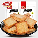 China food co. LTD. WeiLong Fish Tofu Bean Curd Chinese Food Snacks 180g2bags 卫龙 鱼豆腐干 豆腐干 麻辣零食小吃