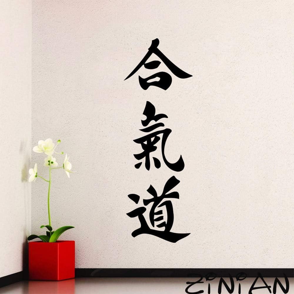 Calcomanía de Pared Deportiva símbolo de Pictograma de Aikido Etiqueta de Artes Marciales Gimnasio calcomanía Japonesa Sala de Estar Dormitorio Fondo de Pantalla 19x56cm: Amazon.es: Hogar