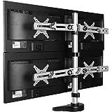"""デスクトップロングアーム単一のコンピュータ液晶モニターのための調節可能なマウントホルダーブラケットフィット10""""-24""""最大のサポート17.6ポンドの重さ (DLB105)"""