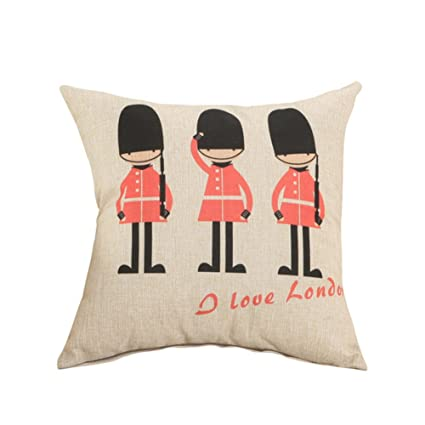 VI. yo funda de almohada estilo británico lino funda de ...