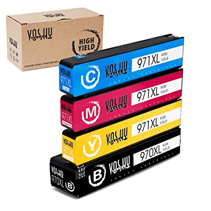 Voshy 970XL 971XL Compatible Ink Cartridges High Yield Replacement For HP 970 971 Work