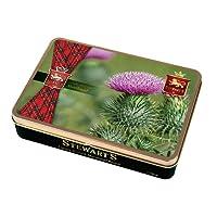 150g Shortbread Tartan Collection - Flower of Scotland - Diestel / 150gramm Feinstes shottisches Shortbread in einer geschmackvollen Dose zum sammeln oder verschenken