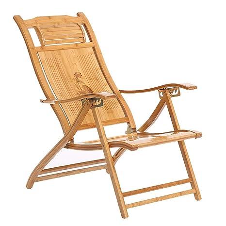 WJJJ Furniture Silla con reposapiés Beach Yard Pool Silla ...