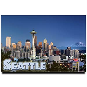 Seattle Fridge Magnet Washington Travel Souvenir