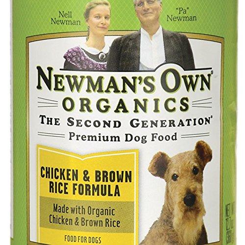 Cena de pollo y arroz integral para perros de Newman's Own, 12.7 oz.
