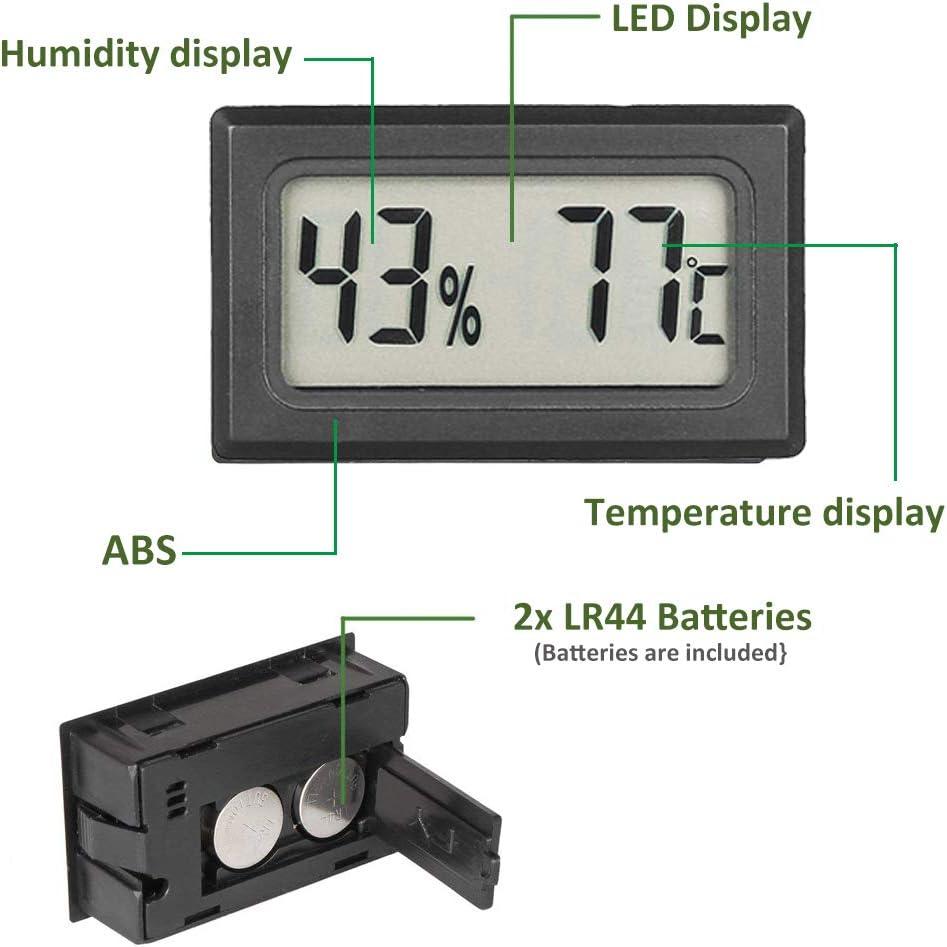 Maison Voitures Bkinsety Mini Digital LCD Thermom/ètre Hygrom/ètre Temp/érature Humidit/é -50~70 ℃ pour la Serre Chaude Bureau