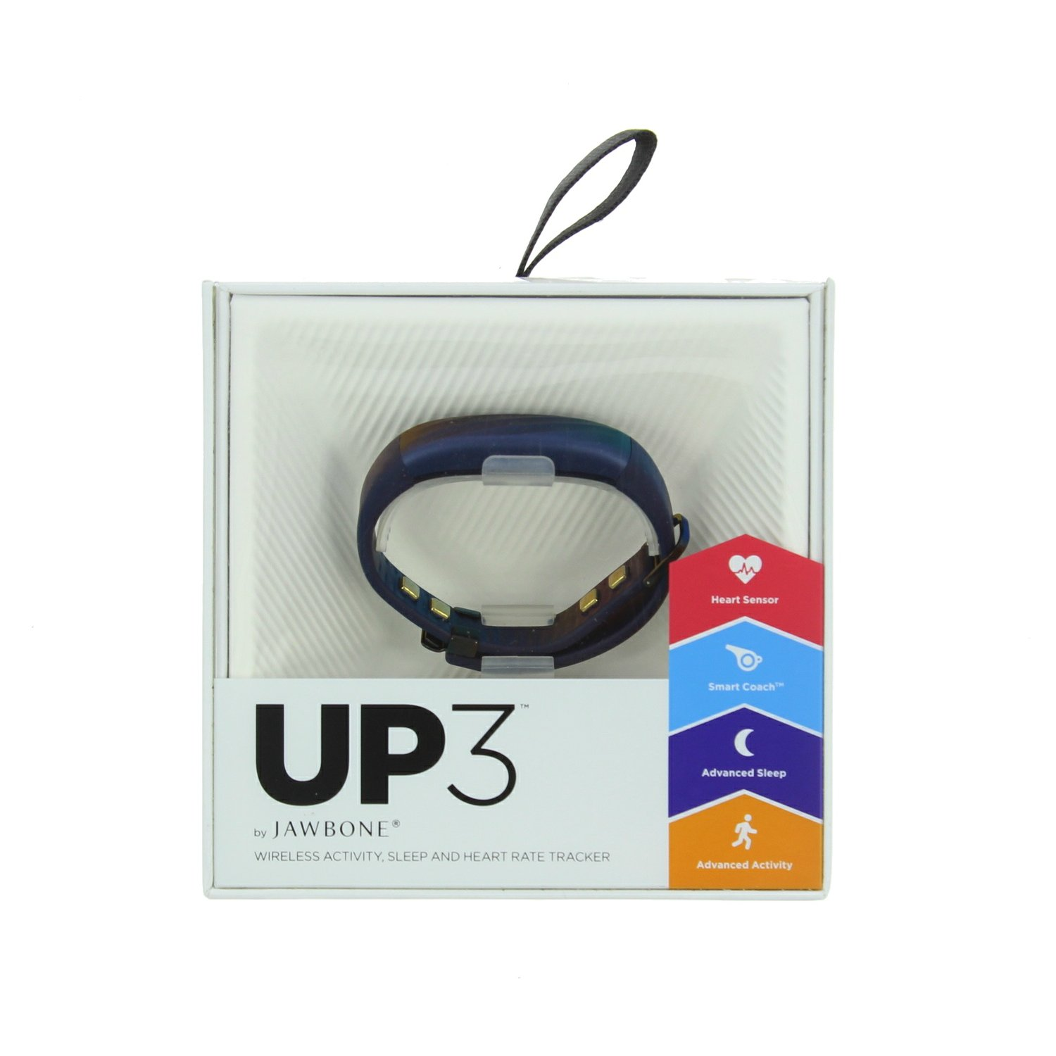 Jawbone UP3 JL04-6003ABD-US Activity Tracker Band with Heart Rate Monitoring, Sleep Tracking and Smart Coach System…