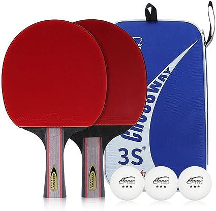 CROSSWAY 2 Piezas por Juego de Mesa Tenis Ping Pong Bat Pala de ...