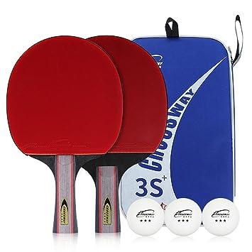 CROSSWAY 2 Piezas por Juego de Mesa Tenis Ping Pong Bat Pala de Pádel Tres Estrellas bolígrafo de Agarre Shake-Hand Grip Set: Amazon.es: Deportes y aire ...