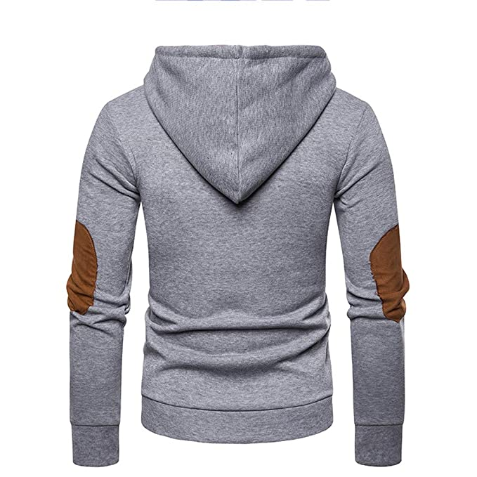 Vovotrade Mens Hoodie Pocket Splicing Pullover Long Sleeve Sweatshirt Tops Blouse at Amazon Mens Clothing store: