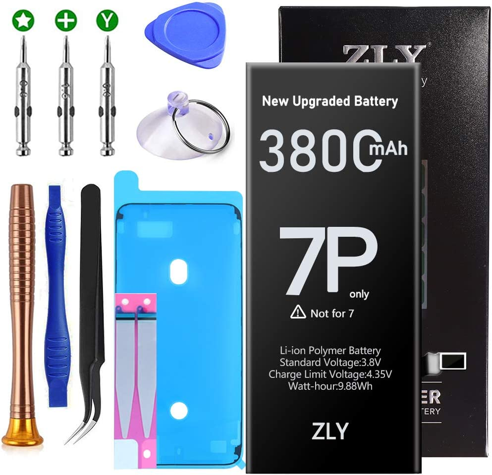 Battery for iPhone 7 Plus, Upgraded 3800mAh New 0 Cycle Higher Capacity Battery Replacement for iPhone 7 Plus with Complete Professional Repair Tools Kits - 24 Months Warranty