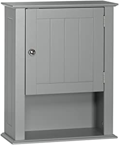 RiverRidge Ashland Collection - Single Door Wall Cabinet - Gray