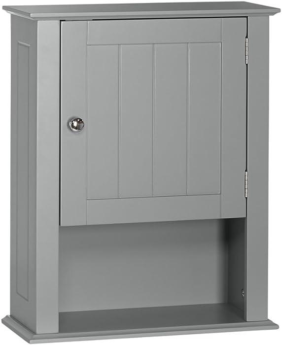 RiverRidge Ashland Collection - Single Door Wall Cabinet - Gray