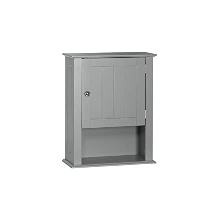 Ashland Collection   Single Door Wall Cabinet   Gray