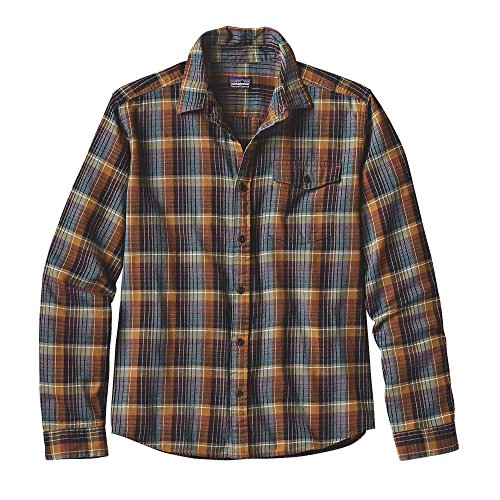 Patagonia Long-Sleeved Lightweight Fjord Men's Flannel Shirt (Large, Navigate: (Patagonia Long Sleeve)
