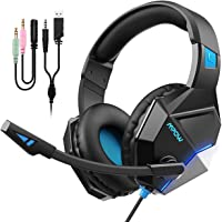 Mpow EG10 Cuffie Gaming(Nuova versione) per PS4, PC, Xbox One, Cuffie con Microfono Cancellazione del Rumore, Cuffie per Nintendo Switch Mac Suono Surround da 3,5 mm Jack USB