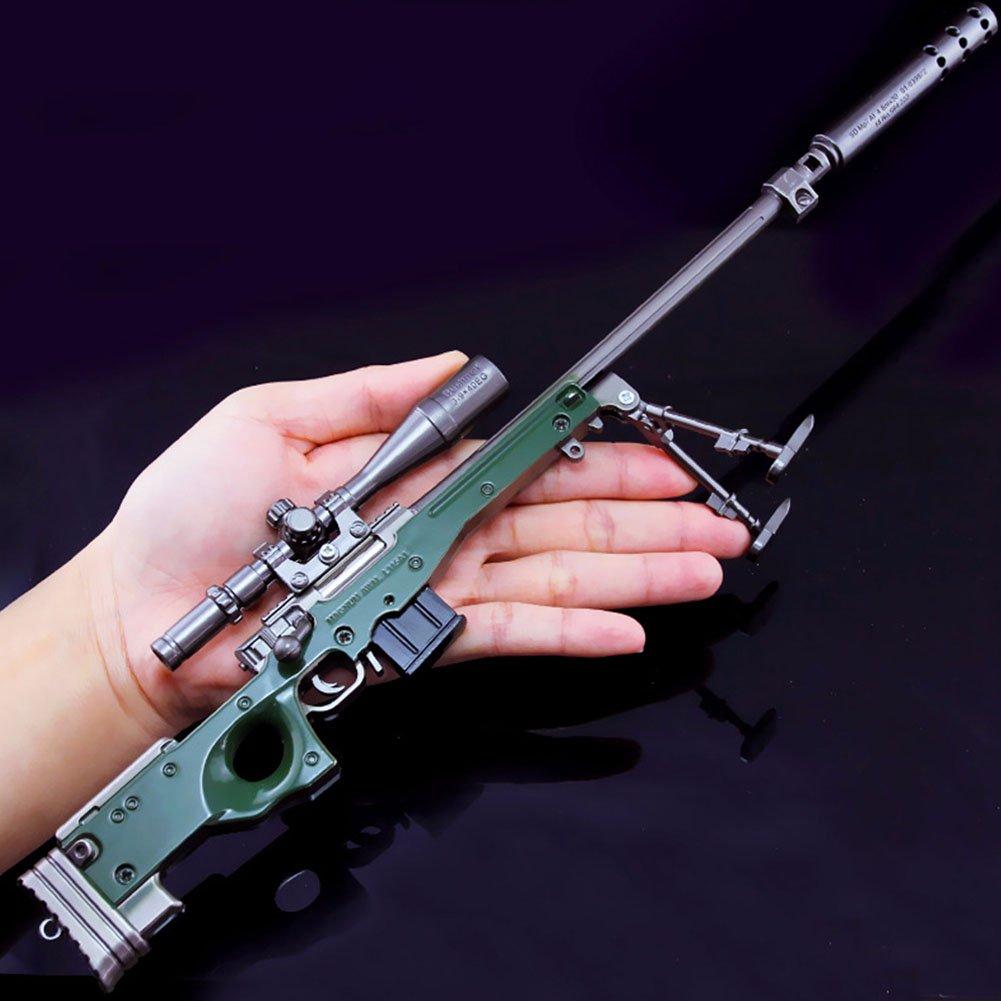 Ocamo Game PUBG Playerunknown's Battlegrounds Cosplay Props Alloy Kar98K AWM SKS M24 Sniper Rifle Armor Model AWM (Large)