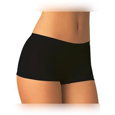SENSI' Shorts Mujer Cintura Baja Braguita Microfibra antibacteriana Transpirante Sin Costuras Seamless: Ropa y accesorios