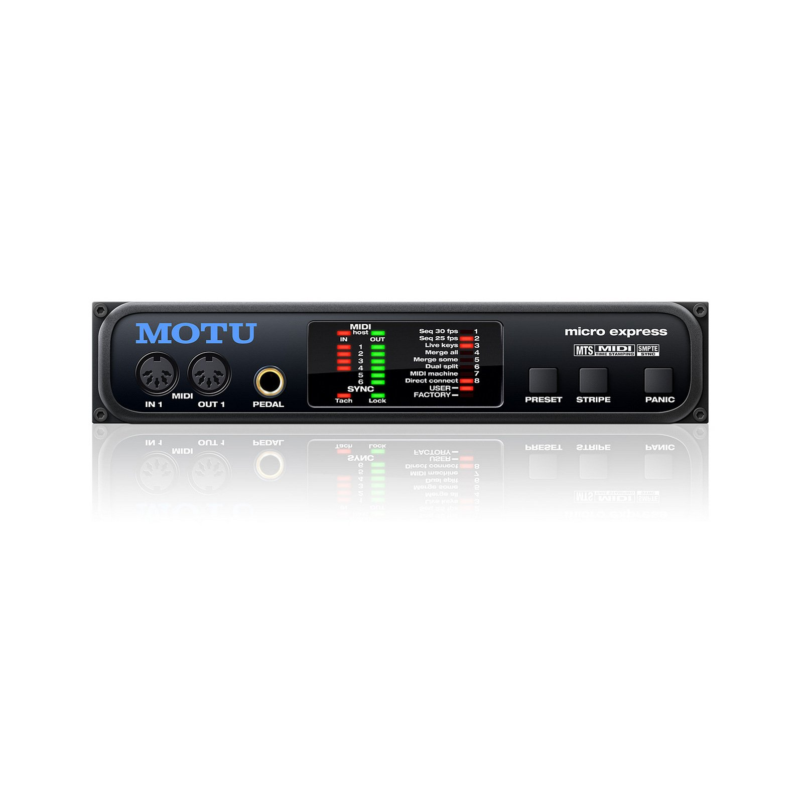 MOTU Micro Express | 4 In 6 Out MIDI Interface with SMPTE Sync