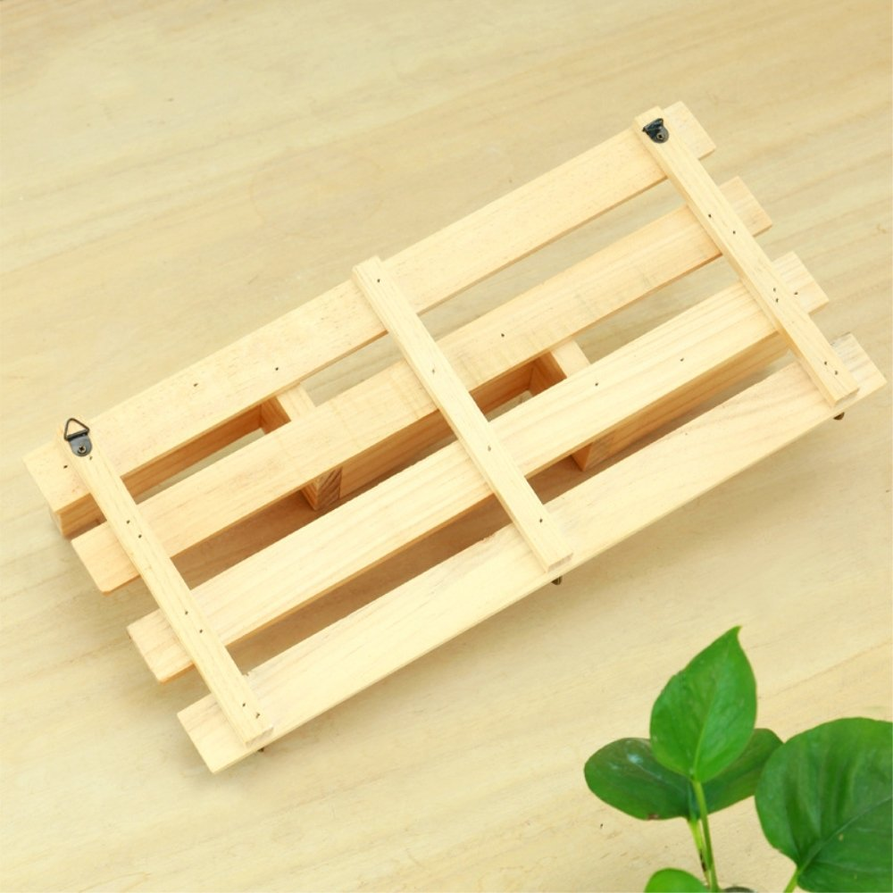 Amazon.com: Wood Wall Shelf, Creative 3-Tier Wall Mount Wooden Rack ...