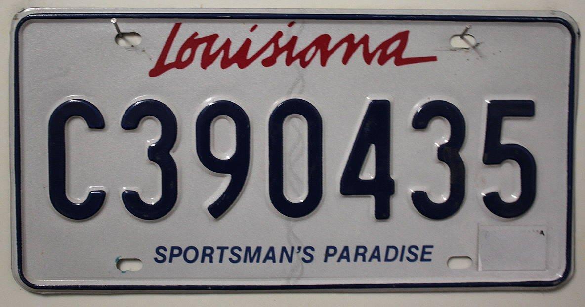USA Nummernschild LOUISIANA ~ US Kennzeichen License Plate ~ Blechschild