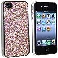 niceEshop(TM) Pink Bling Diamond Glitter Sparkles Slim Hard Back Case for iPhone 4 4S