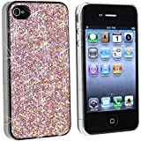 niceEshop(TM) Pink Bling Diamond Glitter Sparkles Slim Hard Back Case for iPhone 4 4S
