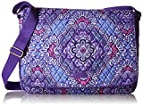 Vera Bradley Women's Laptop Messenger, Lilac Tapestry