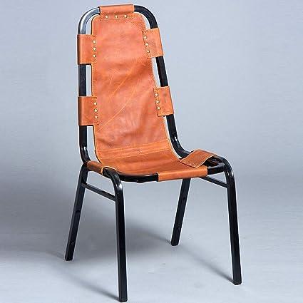 Remarkable Amazon Com Hilason Vintage Black Metal Frame Leather Side Ncnpc Chair Design For Home Ncnpcorg