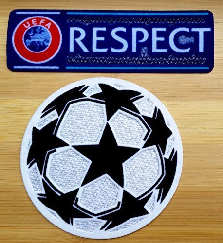 Uefa Champions League Iron-On Soccer Patch and Respect Iron-On Patch by Patch