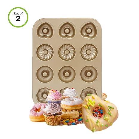Moldes de Acero al Carbono Donut, 2 Unidades de Sartenes ...