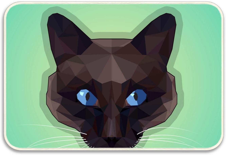 Cat Breeds Icon Set Flat Style Indoor/Outdoor Floor Mats ...