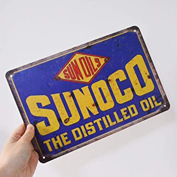 """New SINCLAIR DINO GASOLINE Tin Sign Gas Station Man Cave Wall Decor 11.75/"""" S-207"""