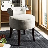 Safavieh Mercer Collection Vicki Grey Vanity Stool