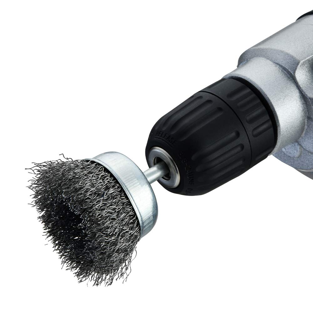 Stripping and Abrasive for Drill Attachment Wire Brush for Drill 1//4 Inch Arbor 0.012 Inch Coarse Carbon Steel Crimped Wire Wheel for Cleaning Rust TILAX Wire Brush Wheel Cup Brush Set 6 Piece