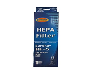 (1) Eureka Sanitaire 61830 HF5 HEPA Vacuum Filter for Boss, Genesis, Signature, Litespeed, Refurb Powerline, Whirlwind Upright Vacuum Cleaners, 61830, 61830A, 61840 Series #F943