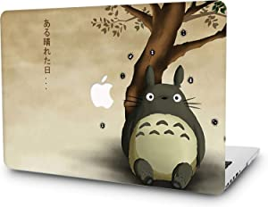 RQTX Hard Case for MacBook Laptop Cover Matte Surface, Universe Anime Cartoon Plastic Hard Cover for Newest MacBook Pro 13 inch A2251 A2289 (2020 Release)- Totoro