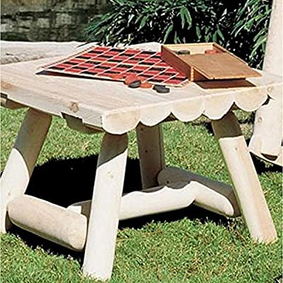 Rustic Natural Cedar Furniture 24 in. Square Outdoor Coffee Table