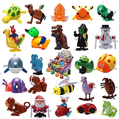 24 Pieces Assorted Wind-up Toys for Kids Party Favors (2 Dozen)